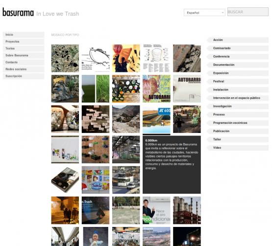 Mosaico de proyectos en Basurama