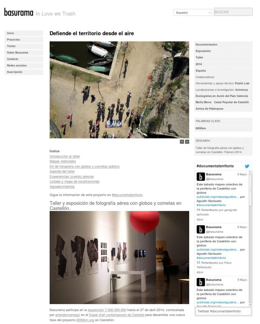 Exemple d'une page projet.
