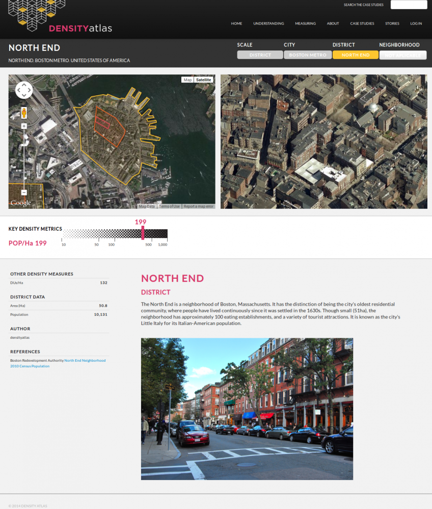 Density Atlas étude de cas à l'échelle du quartier.