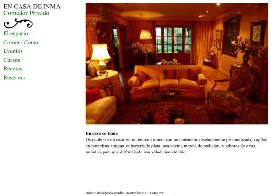 Página de inicio de En casa de Inma