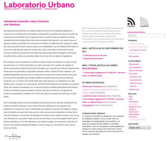 Post en Laboratorio Urbano