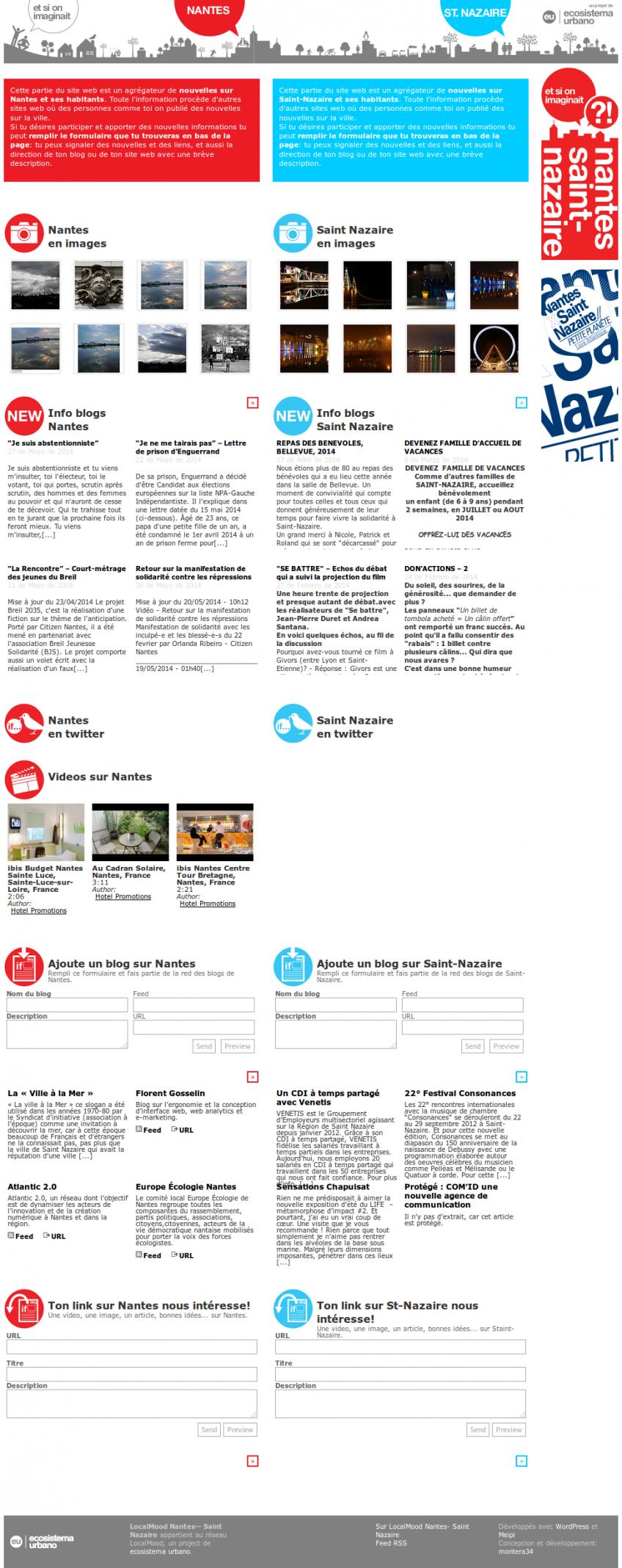 Page d'accueil de Localmood.