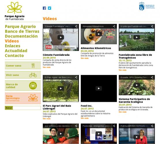 Archivo de vídeos del Parque Agrario Fuenlabrada
