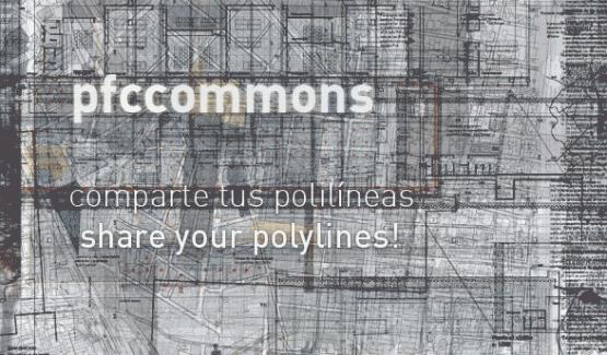 """Lema de PFCCommons """"Comparte tus polilíneas"""""""