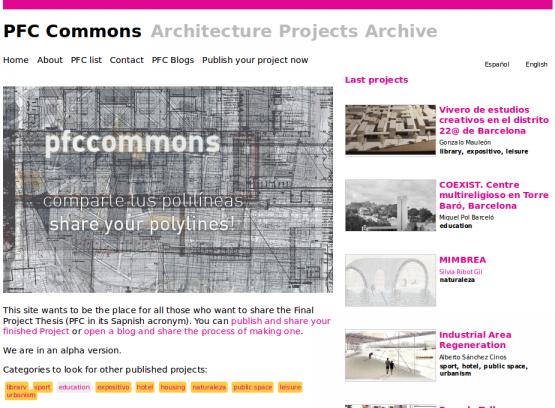 Página de inicio de PFCCommons