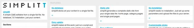 Página de ejemplo de Simplitt