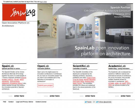 Página de inicio de SpainLab.
