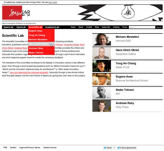 Página de la sección ScientificLab done aparecen los 6 miembros del comité científico.