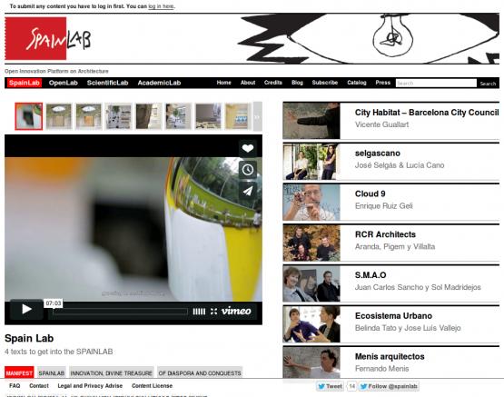 Página de la sección de SpainLab dedicada a los 7 españoles seleccionados.