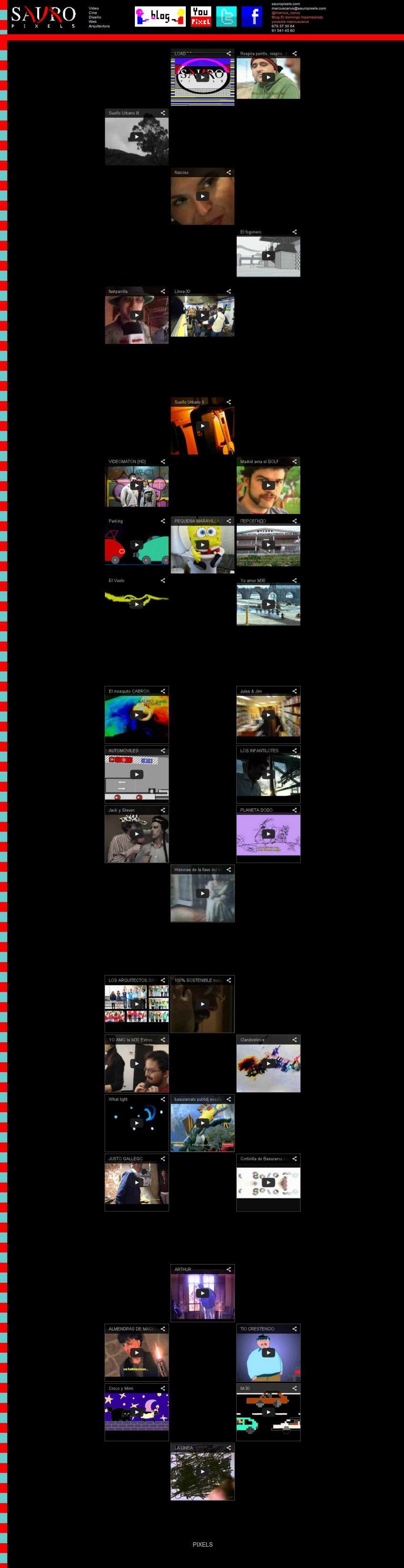 Página web para Sauro Pixels