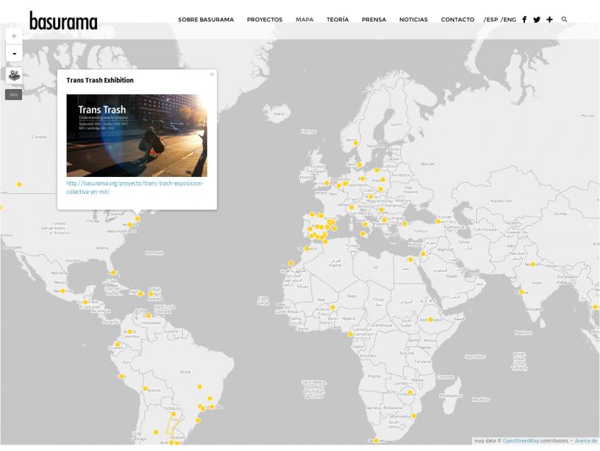 Mapa de proyectos de Basurama