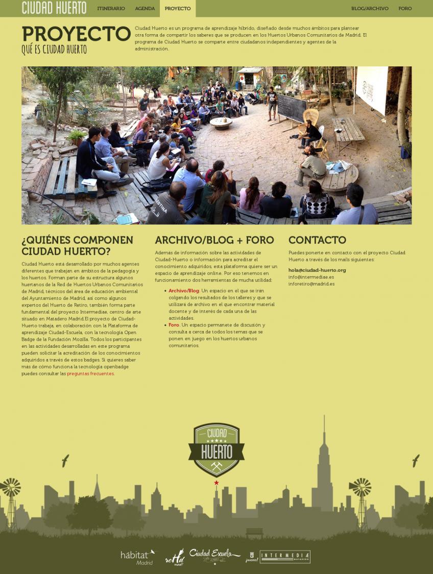 Ciudad Huerto: presentación del proyecto