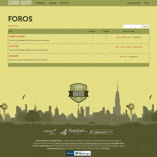 Ciudad Huerto: Foros