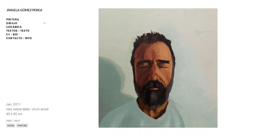 Portfolio de Ángela Gómez Perea: página de una obra
