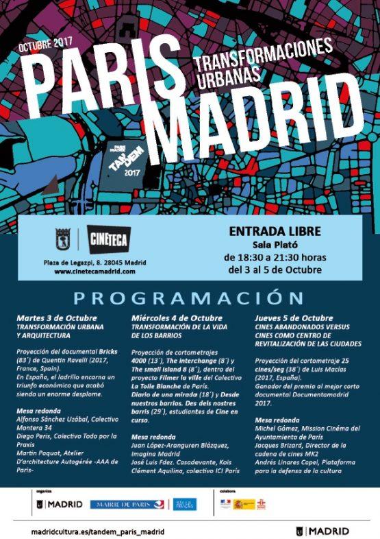 Tandem Paris-Madrid. Programa
