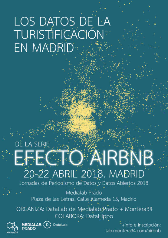 Datos de la turistificación en Madrid. 20-22 Abril 2018