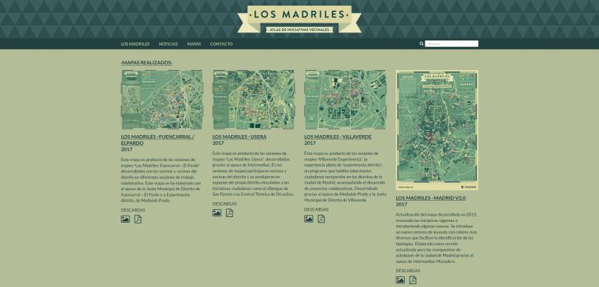 Pantallazo losmadriles.org: Mapas