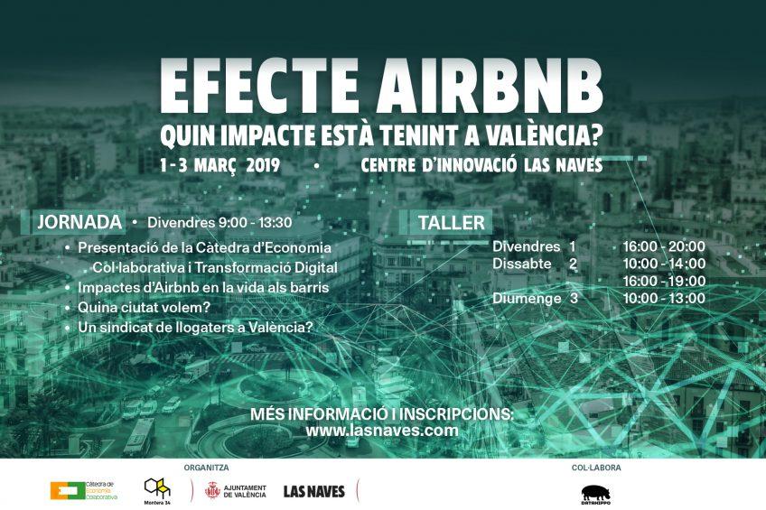 Cartel jornada debate alojamientos turísticos Valencia