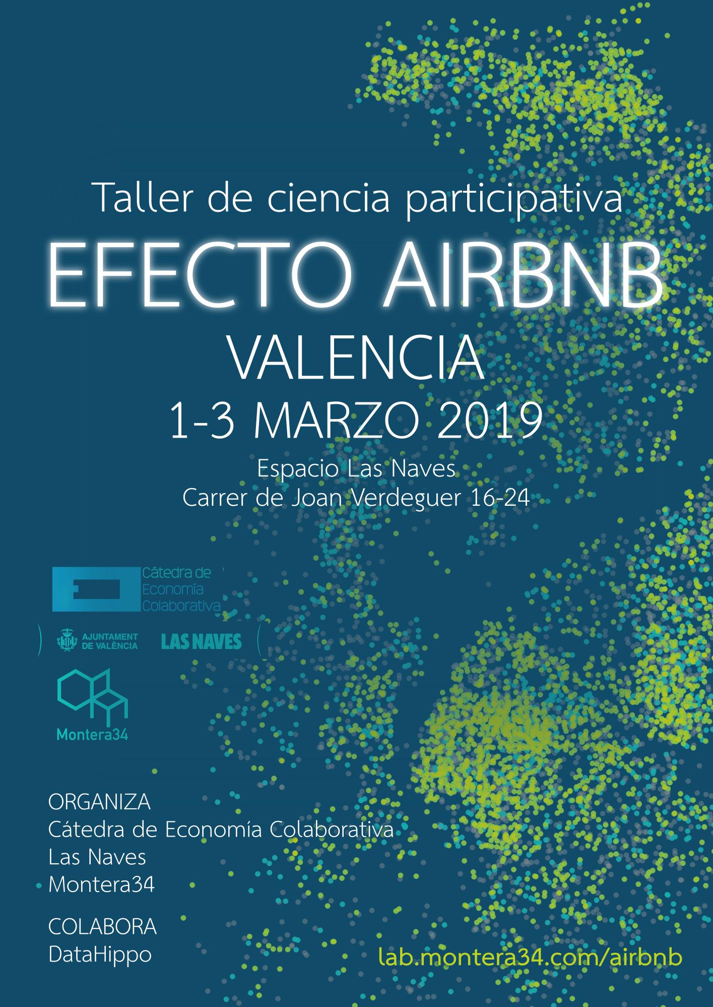 Cartel Taller Efecto Airbnb Valencia