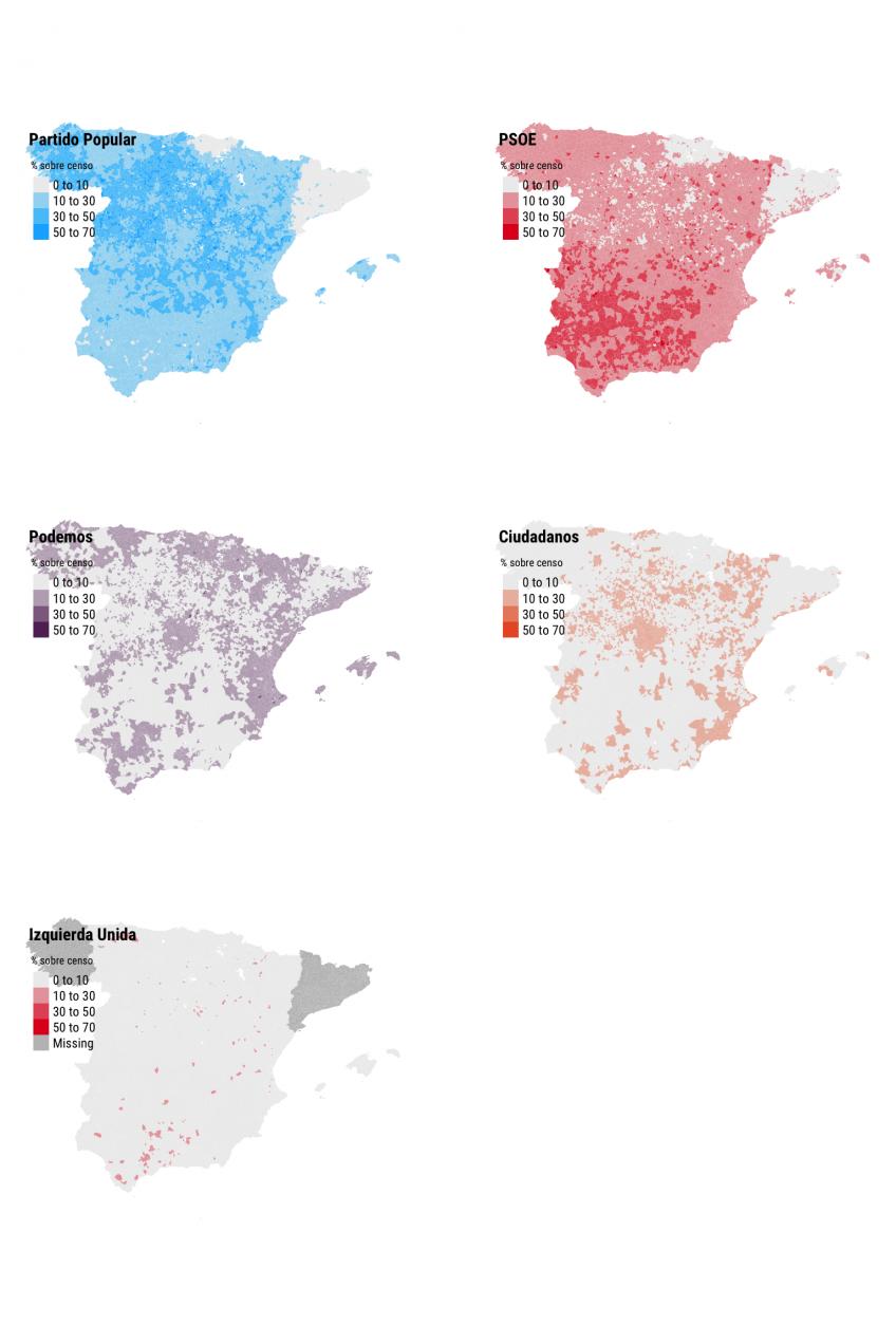 Análisis del voto por municipios de Héctor Meleiro