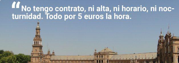 Postal El mal turismo, Sevilla