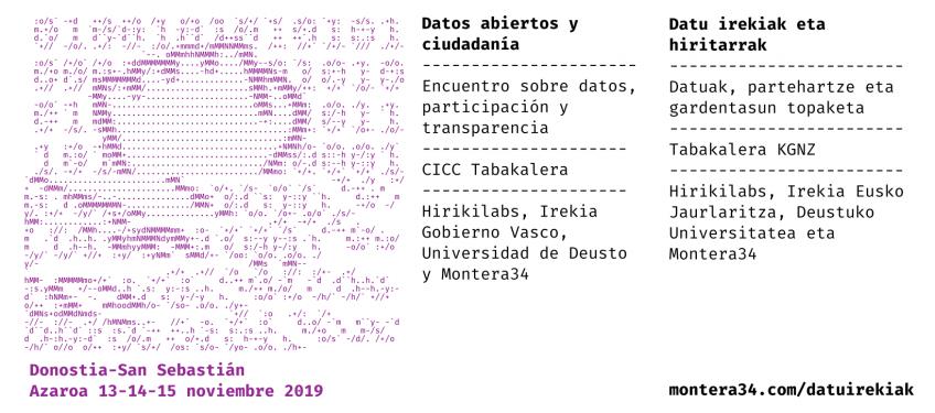 Cartel del Encuentro datos abiertos y ciudadanía