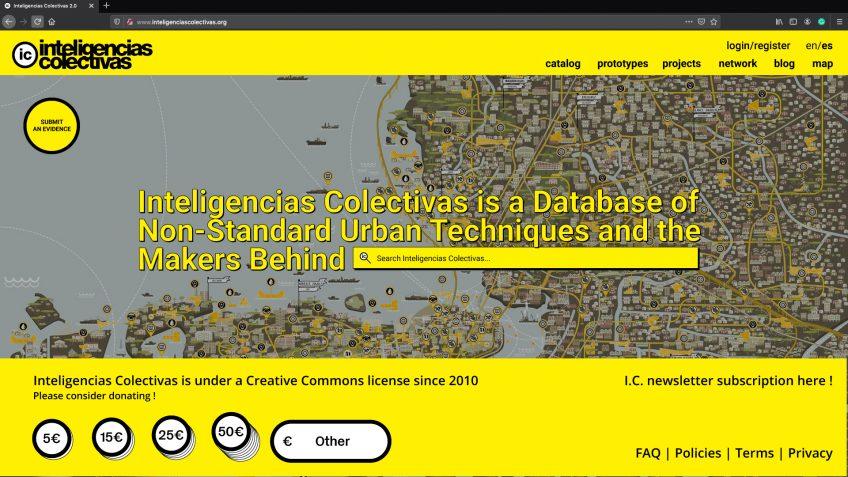 Mock up de la portada de la web deInteligencias colectivas